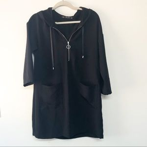 Zara half zip 3/4 sleeve dress/tunic